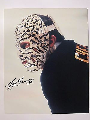 Gerry Cheevers Autographed Photo 8x10 Boston Bruins with COA