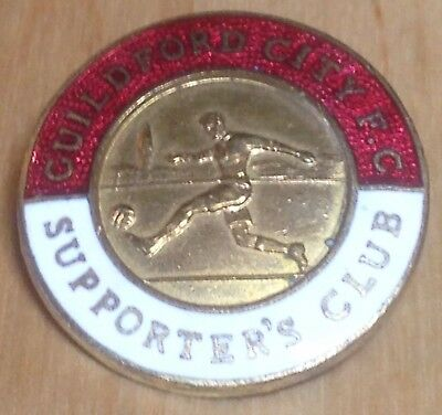 Vintage GUILDFORD CITY SUPPORTER CLUB Football Badge