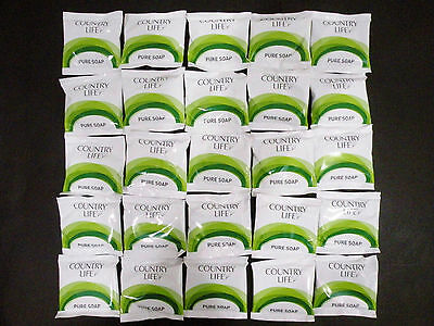 Country Life 25 x indvidually wrapped Soaps (15g) ideal for hotel, motel, B & B