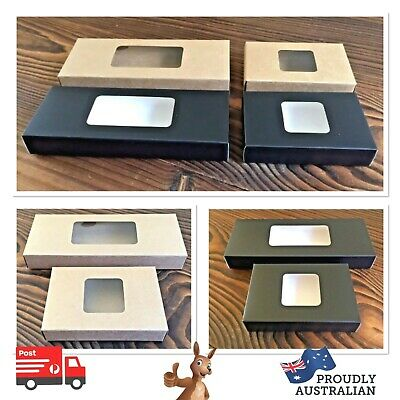 📦x5 TEA-LIGHT CANDLE GIFT PACKAGING BOX with CLEAR WINDOW~(2 SIZES & 8 COLOURS)