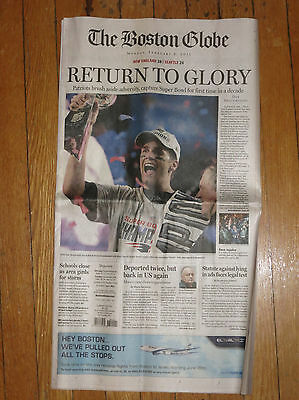 Patriots Super Bowl XLIX Boston Globe Miraculously Preserved in Record Snowfall