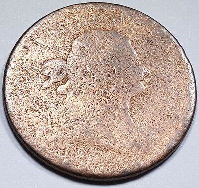 1800-1808 US Half Cent Draped Bust Hay Penny Antique U.S. Currency Old Money