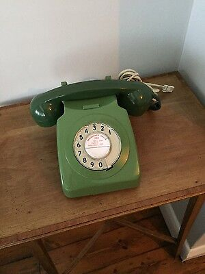 Old Vintage Retro GPO Rotary Telephone. Lovely condition. CONVERTED & WORKING