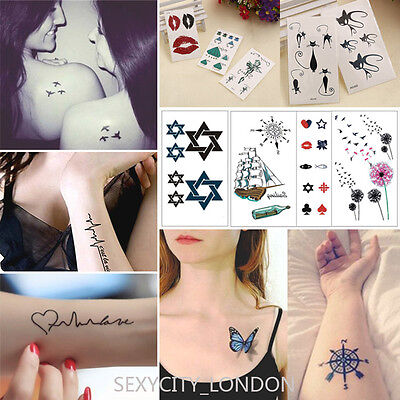 Temporary Tattoo Sticker Removable Waterproof 3D Fake Body Art 10.6 x 6 cm