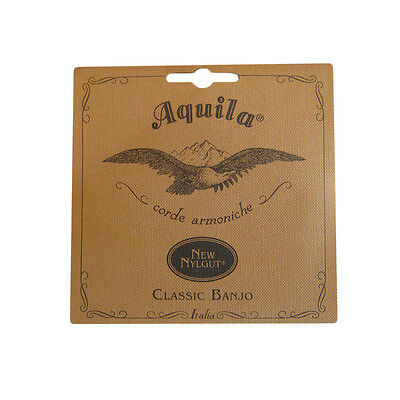MINSTREL BANJO STRINGS - AQUILA - dGDF#A - 5 STRING - MEDIUM TENSION - NYLGUT 7B