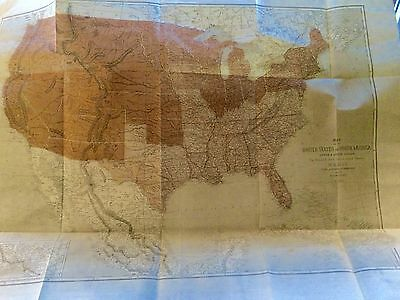 New Listing: Antique Map Of North America Never Opened From London Illustrated