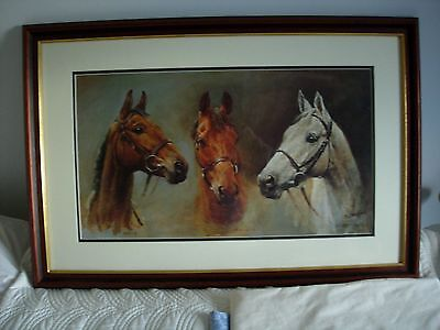 'Three Kings' Large Framed Horse Racing Print By S L Crawford