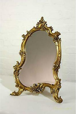 DUSX French Rococo Antique Style Gold Gilt Leaf Bevelled Table or Wall Mirror 35