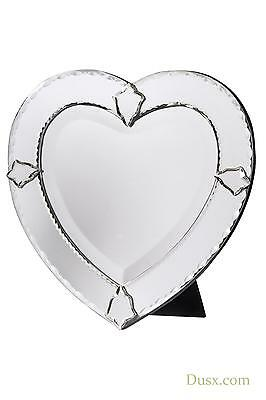 DUSX Venetian Heart Shaped Bevelled Decorative Table or Wall Bedroom Mirror
