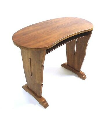 Vintage Swiss  Art Deco  Kidney Shaped Walnut  Table /desk