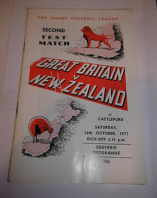 Great Britain v New Zealand 16th October 1971 Second Test Match @ Castleford