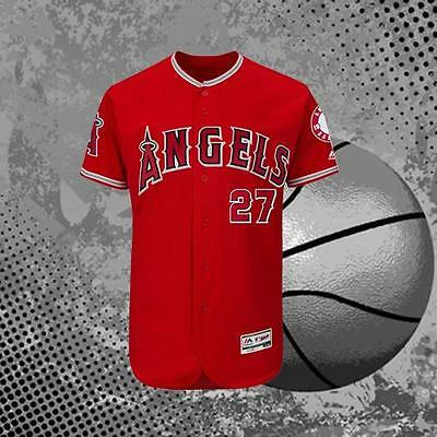Mike Trout #27 Los Angeles Angels of Anaheim Red Baseball Jersey