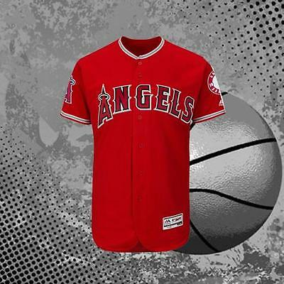 Los Angeles Angels of Anaheim Blank Alternate Scarlet Baseball Jersey Red