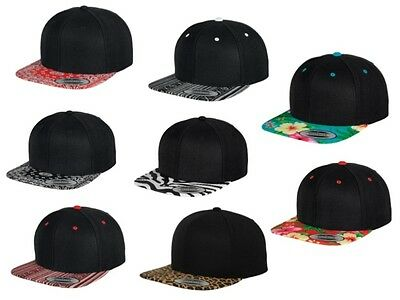 Yupoong Unisex Fashion Tropical Printed Snapback Baseball Hip Hop Hat One Size