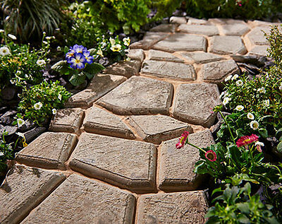 Crazy Paving Mould Garden Pathway Driveway Concrete Hard Wearing Simple To Lay