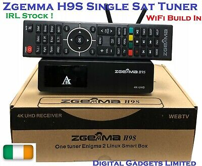 Genuine Zgemma H9S 4K UHD DVB-S2X Satellite Single Tuner IRL Stock !
