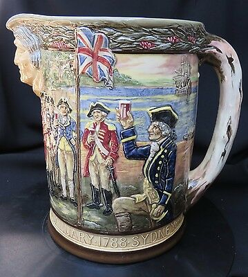 Royal Doulton Commemorative Australia Captain Phillip jug 1938, Ltd Edit, Noke