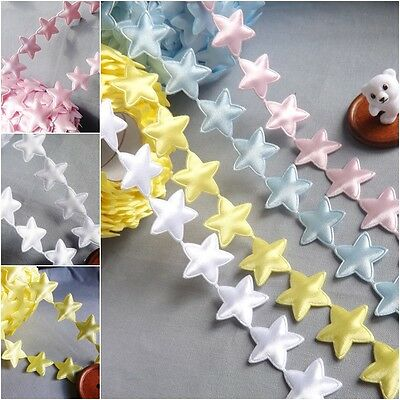 1 MTR PADDED STARS BRAID TRIMMING SEWING -CARD CRAFT DOLLS EMBELISHMENTS Baby