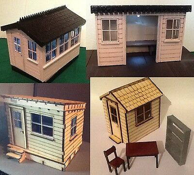 Bumper pack of four 16mm scale buildings for garden railway