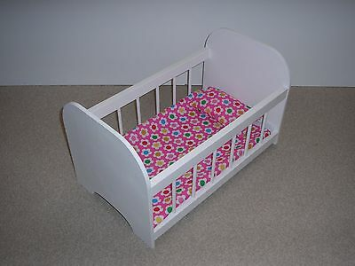 New Large Wooden Dolls Cot  Delivered Fully Assembled And Is A Unique Design