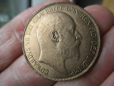 1902 - King Edward VII - Uncirculated Penny with Full lustre .
