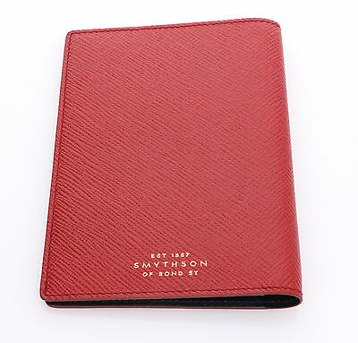 Smythson Panama Leather Red Passport Cover - Brand New & Boxed