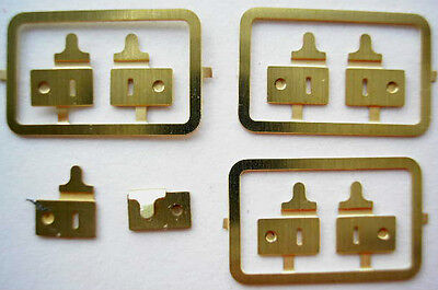 dollshouse 1/12th 1/24th scale 4 pr BRASS LOCKS luggage case hatbox bag  sl HB