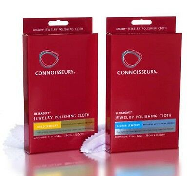 Connoisseurs Ultrasoft  GOLD & SILVER Jewellery Polishing Cleaning Tarnish Cloth