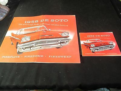 Large & Small 1958 Desoto Brochures
