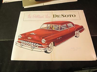 1952 The Brilliant New De Soto Car Brochure