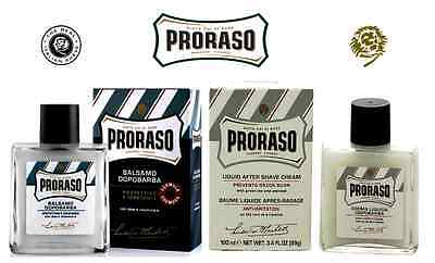 PRORASO - After Shave Balms - Sensitive Skin or Moisturises and Protects Skin
