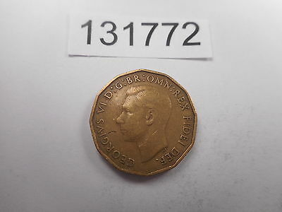 1949 Great Britain Three Pence - Key Date Album Coin Mintage 464,000 - # 131772