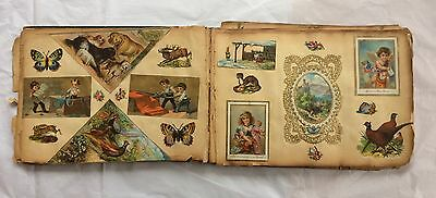 Rare 1800s Antique Scrapbook Early Valentine, Easter Christmas New Year Cards