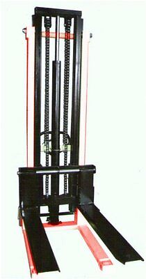 Hand Stacker Forklift 1 Ton 2.5 Meter CtyE  Double stage mast