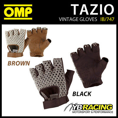Ib/747 Omp Tazio Vintage Classic Driving Gloves Short Style Leather - 4 Sizes!
