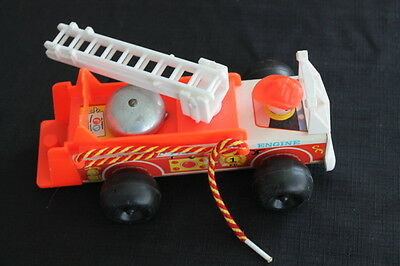 vintage Fisher Price fire truck pull toy
