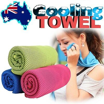 Magic Instant COOLING TOWEL Ice Cold Cooler 4 Sports Gym Camping Travel Jogging
