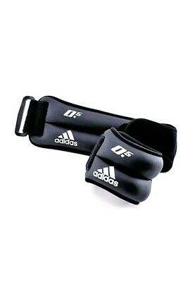 -5%5 Adidas Ankle/Wrist Weights - Grey/White, 1 Kg