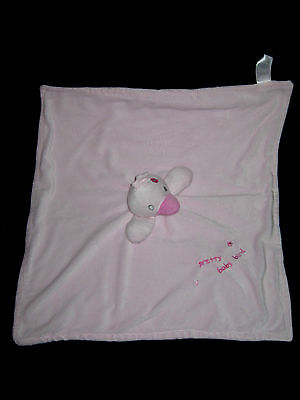 Doudou plat couverture Oiseau rose pretty baby bird Primark Early days