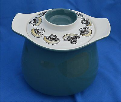 1960's Poole Pottery Lucullus Mushroom decorated Casserole Dish