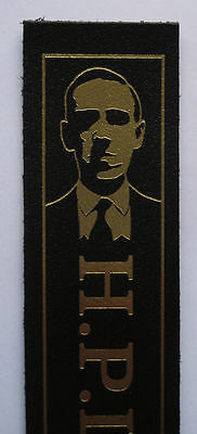 H P Lovecraft leather bookmark