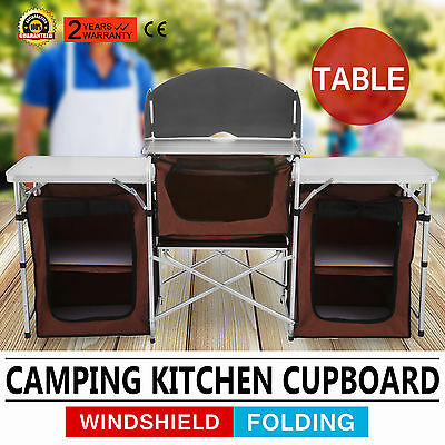 6Ft Fold-Up Camping Kitchen Cabinet Portable Table Food Storage Hot