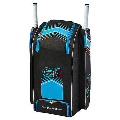 Gunn + Moore 707 Duffle Cricket Bag - Black/blue. 2017 Season.  Free Delivery.