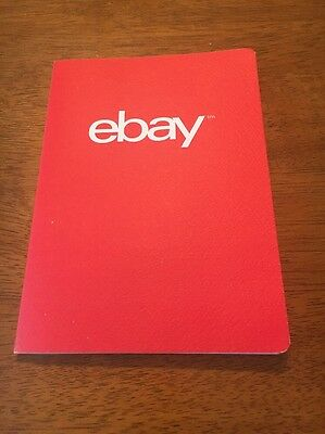 NEW eBay Logo Soft Cover Notebook Red 28 Dotted Pages Collector Memorabilia
