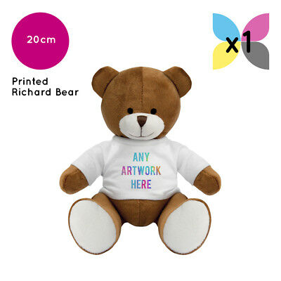 1 Personalised Richard Teddy Bear Promotional Logo Text Photo Printing Gifts