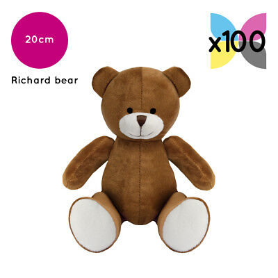 100 Brown Richard Teddy Bears Without Clothing Blank Plain Soft Toys Plush Bulk
