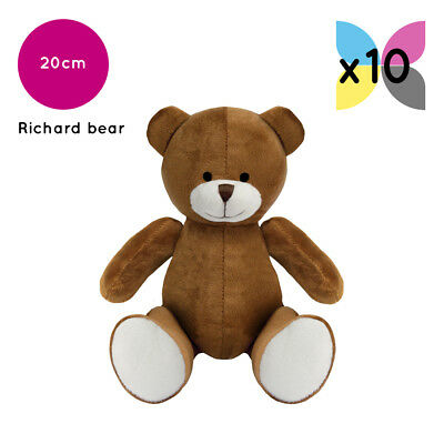 10 Brown Richard Teddy Bears Without Clothing Blank Plain Soft Toys Plush Bulk