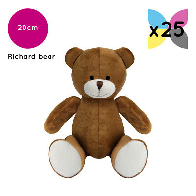 25 Brown Richard Teddy Bears Without Clothing Blank Plain Soft Toys Plush Bulk