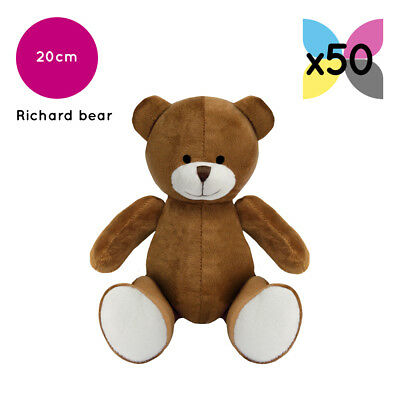 50 Brown Richard Teddy Bears Without Clothing Blank Plain Soft Toys Plush Bulk
