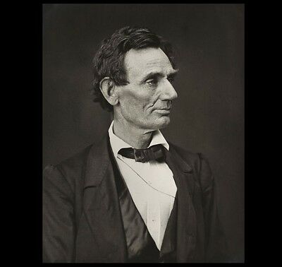 1860 Abraham Lincoln Campaign PHOTO Lincoln Pleased, Hesler, Civil War President